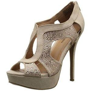 Soho Womens Silvy Faux Suede Platform heels